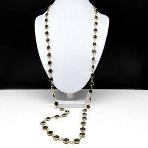 Swarovski Bezel Set Black Crystal Necklace